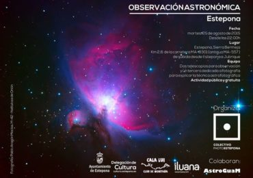 Observación astronómica con telescopio