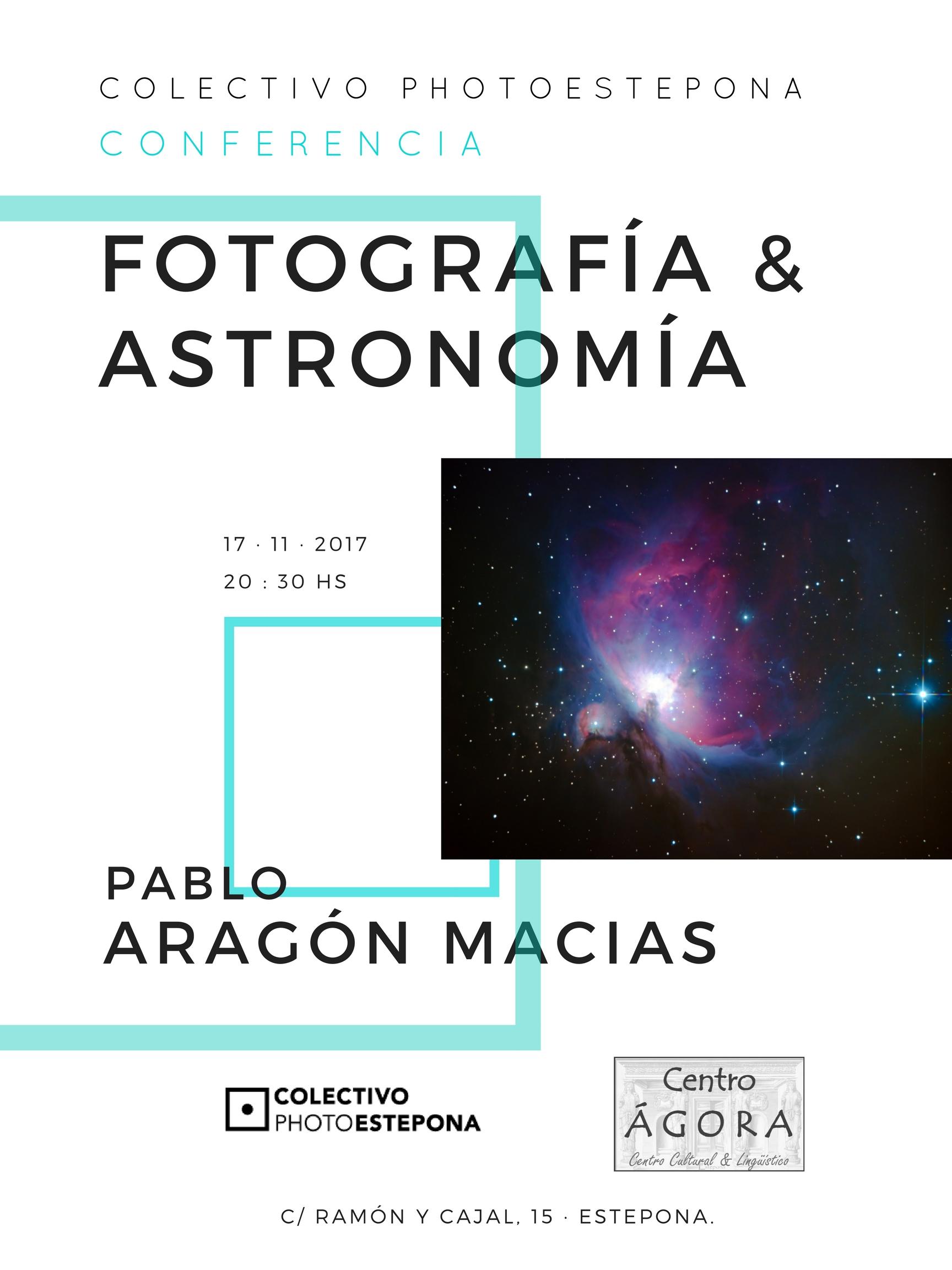 Cartel Fotografía & Astronomía