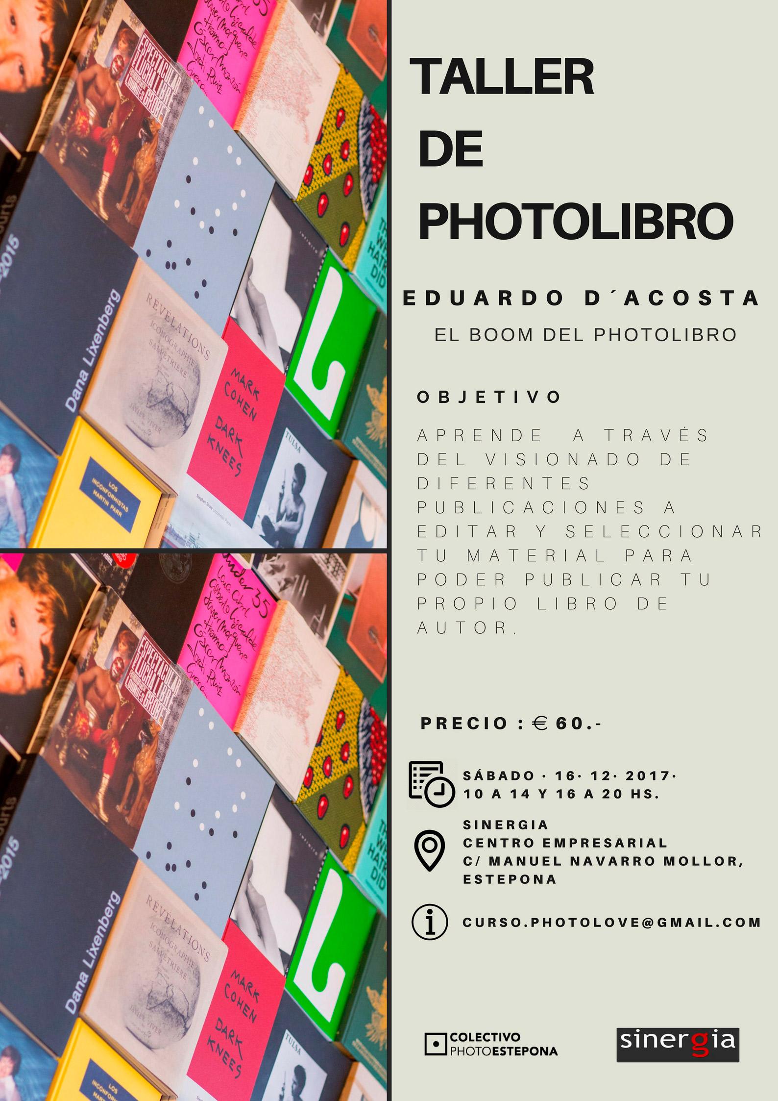 Cartel del Taller de Photolibro