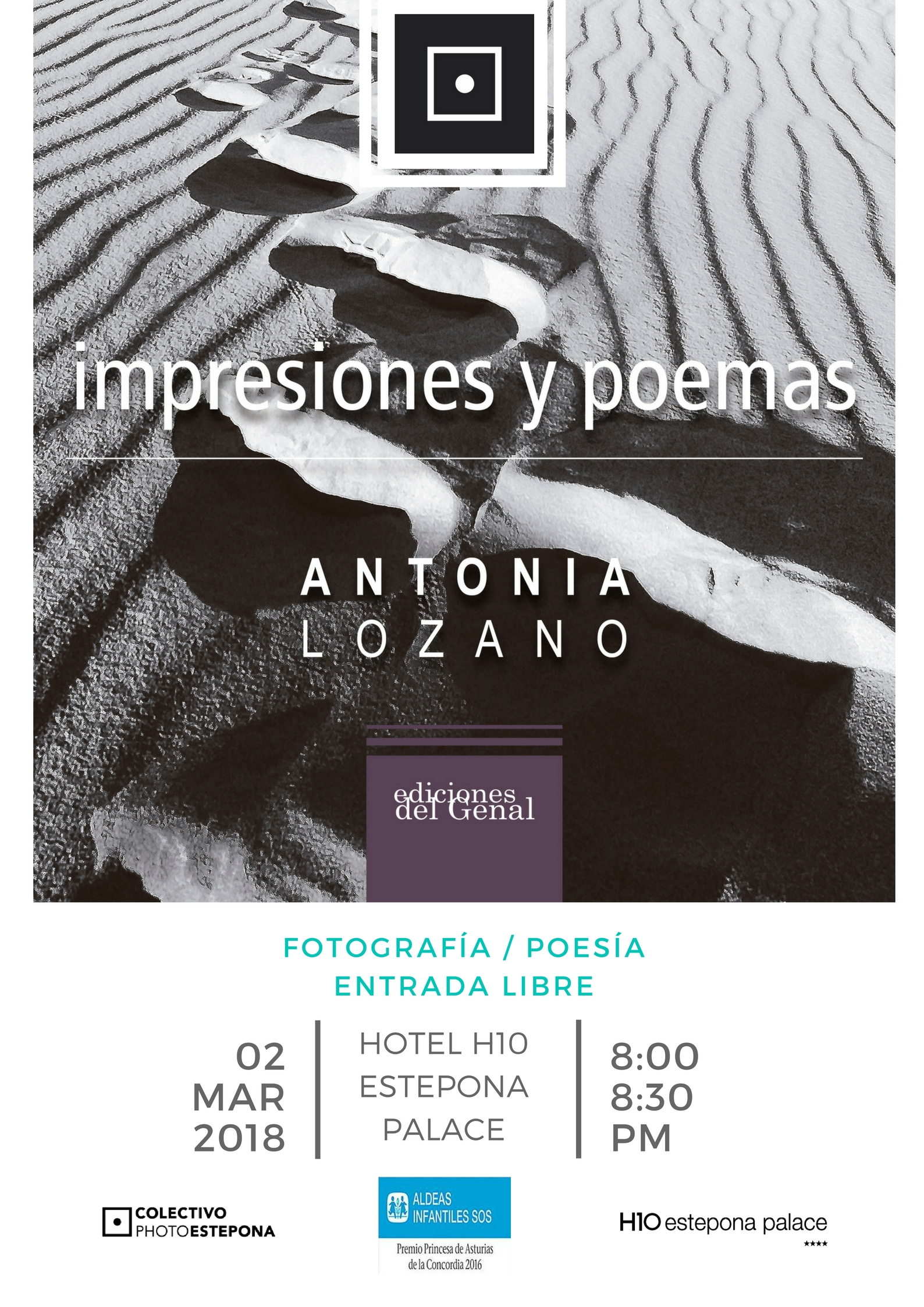 Cartel conferencia Antonia Lozano