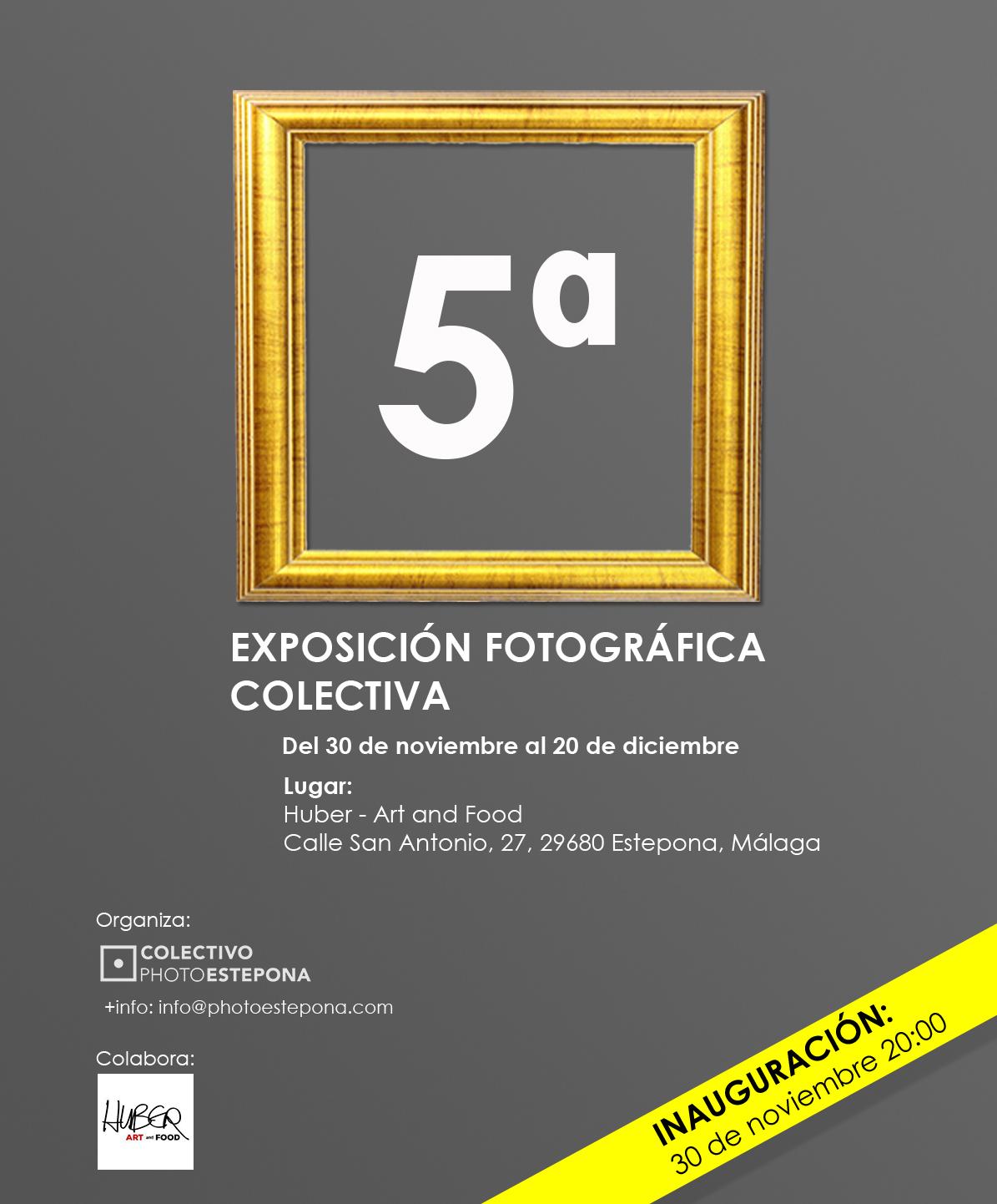Cartel de la V Exposición colectiva del Colectivo